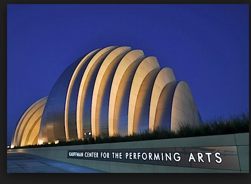 Kansas City's Kauffman Center for the Performing Arts. Opened in 2011. Moshe Safdie's design gives KC something of its' own Sydney Opera House. This is the view from the Northwest. The south facing entry and facade is entirely glass, and makes a striking and very different impression.