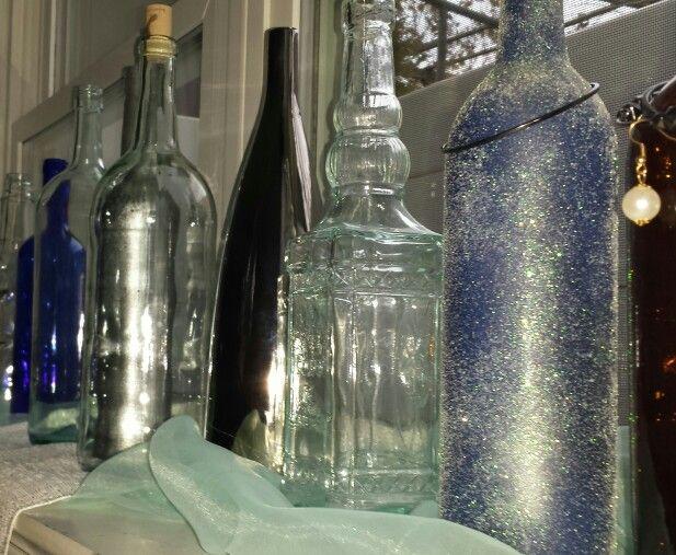 Wine bottles #wedding