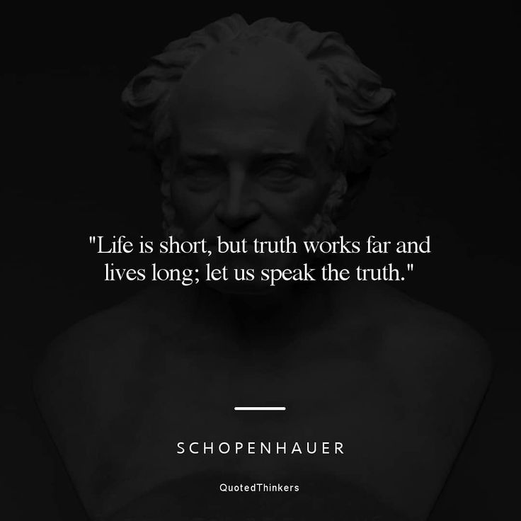 """Philosophy Quotes on Instagram: """"""""Life is short, but truth ..."""