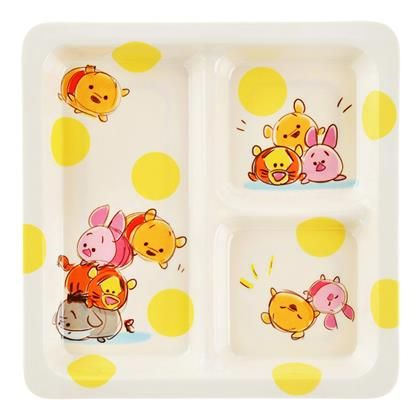 Winnie-the-Pooh & Friends Tsum Tsum Melamine Cafe Plate @genoveffaverte ! Can you believe this?!