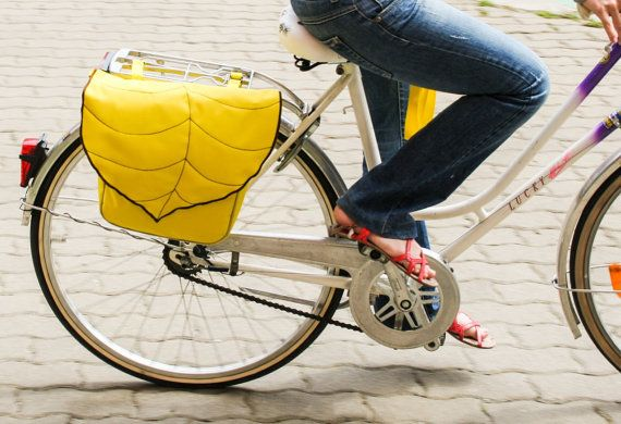 Hey, I found this really awesome Etsy listing at https://www.etsy.com/listing/152519784/yellow-leaf-bike-pannier-bag-bicycle-bag
