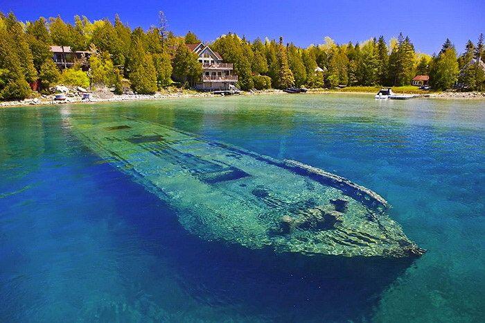 Новости: Озеро Гурон: красивейший водоем на границе США и Канады