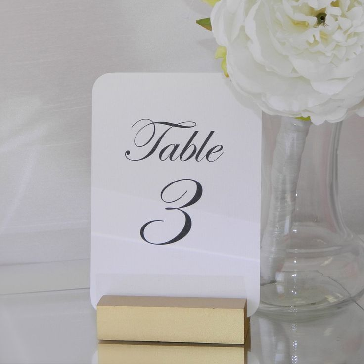 Gold Wedding Table Number Holder Size: 3 inch Holder perfect for cards sized 4 x 6 or smaller