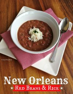 New Orleans Red Beans and Rice Recipe -with crockpot / slow cooker option | SuperGlueMom.com