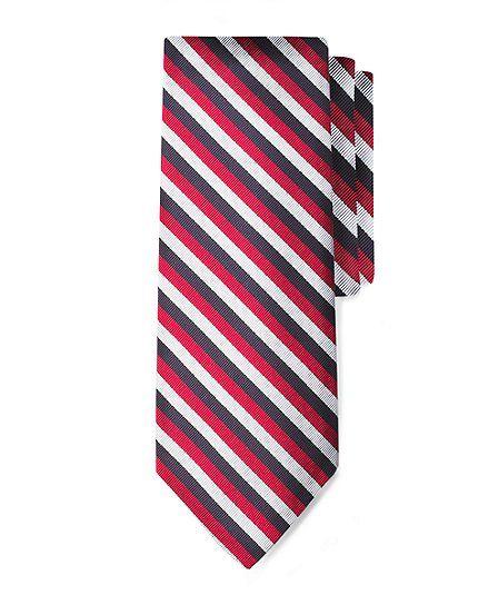 Black Fleece Jockey Stripe Tie - Brooks Brothers