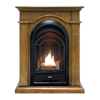 Emberglow 28 In Convertible Vent Free Dual Fuel Gas Fireplace In Almond Finish Vff15nla At The