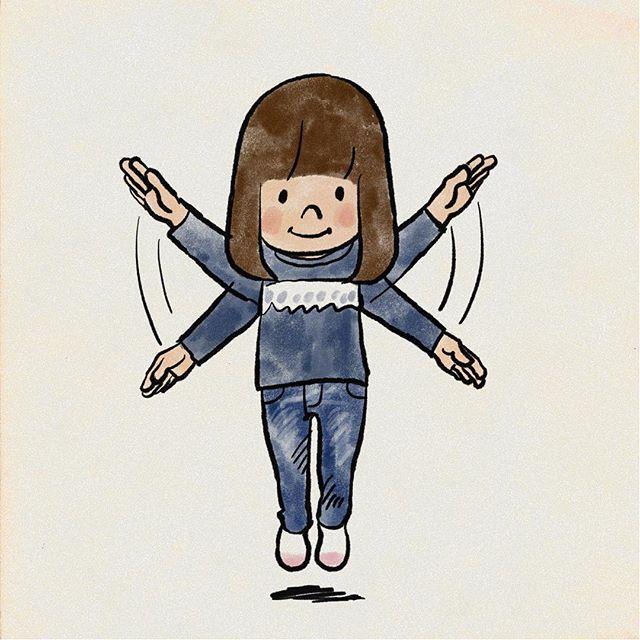 動きを出すための漫画表現 最近娘が描くようになった 残像 動き