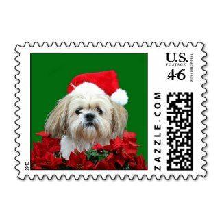 Shih Tzu Christmas SMALL Stamps