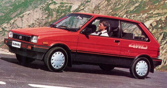 Subaru Justy 12 4WD