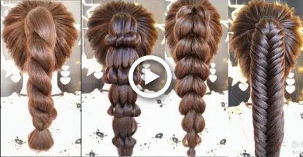 Alltagsfrisuren für langes Haar / Leichte Frisuren 2019 / Frisur EINFACHE UND SCHÖNE STREBEN - # 2019 Frisur #BONITOS #Täglich #Faciles