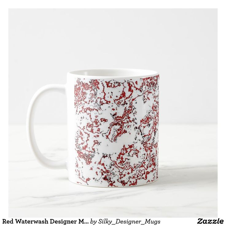Red Waterwash Designer Mug 1
