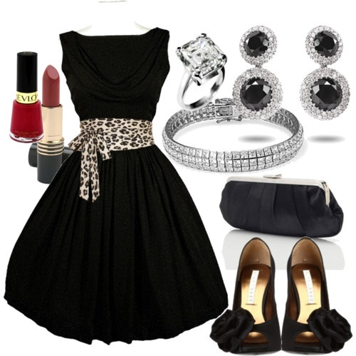 Love this outfit: Shoes, Date Night, Cute Dresses, Audrey Hepburn, Outfit, Leopards Prints, Animal Prints, Little Black Dresses, The Dresses