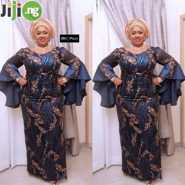 Plus Size Aso Ebi Styles 2018 Lace Fashion African Wear Dresses African Fashion Dresses