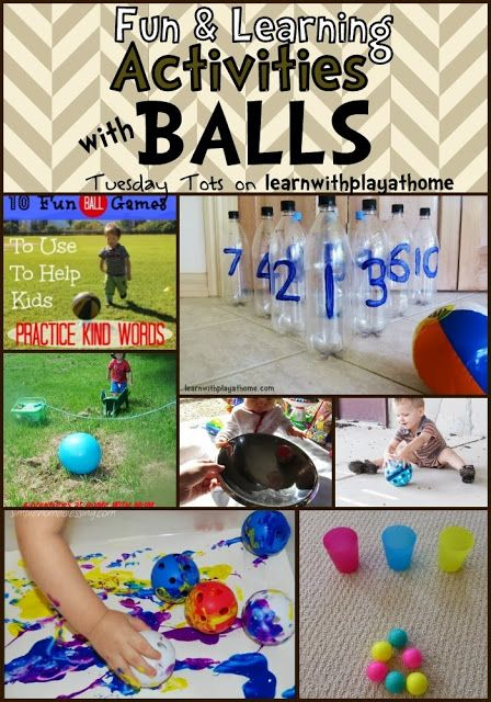 Fun Learning Activities with Balls: lots of great ideas from math to gross motor.