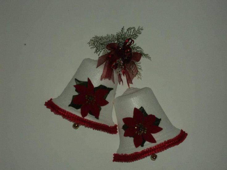 lamparas de navidad en icopor
