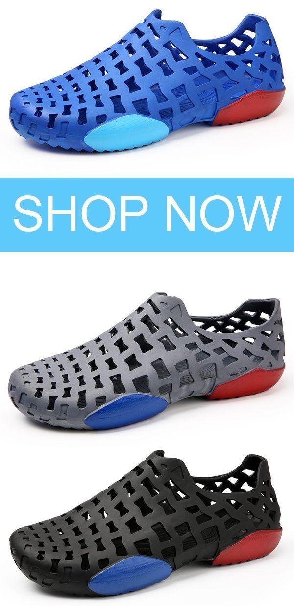 3e7293f1bed831 Men Hole Light Weight Garden Water Shoes Soft Beach Sandals shoes  summer   beach