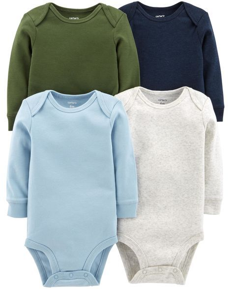 8828681a5 Baby Boy 4-Pack Long-Sleeve Original Bodysuits from Carters.com. Shop  clothing & accessories from a trusted name in kids, toddlers, and baby  clothes.