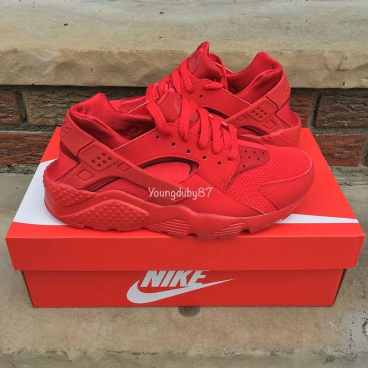 Nike Air Huarache Run University Red October Triple #Nike #AthleticSneakers