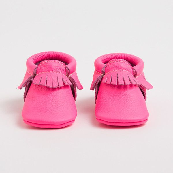 Limited Edition Hot Pink moccasins by Freshly Picked.