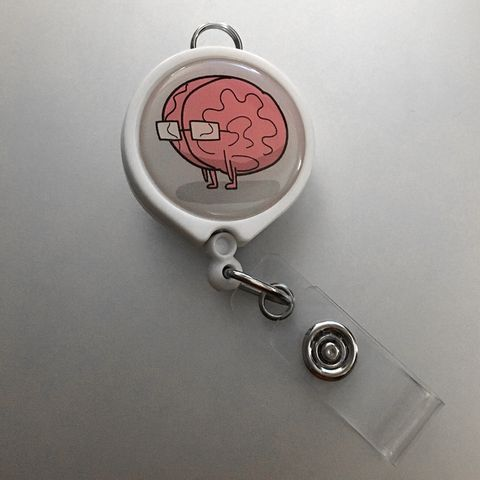 Brain ID Badge Reel – The Official Awkward Yeti Store - theAwkwardStore.com