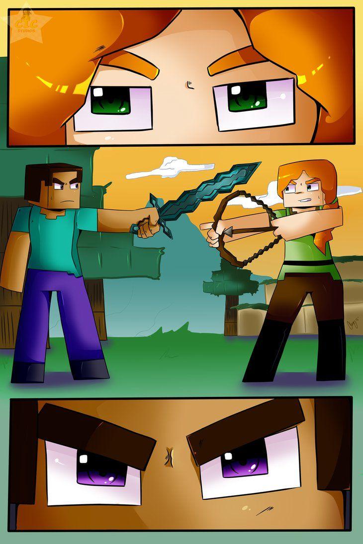 Steve Meets Alex by CICStudios on DeviantArt Minecraft