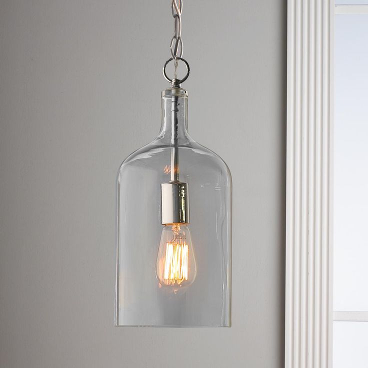 2 or 3 small for kitchen island? we need to do a mock up based on dimensions Glass Jug Pendant Light