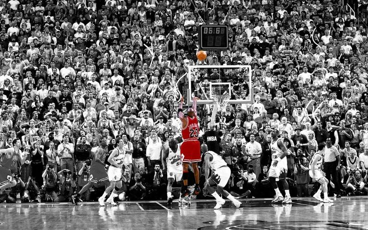 Michael Jordan Poster Title Winning Last Shot in Chicago Wings Fabric Silk Print…