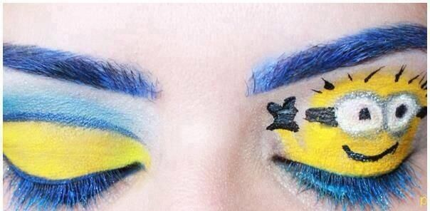 Minion Makeup, Great Idea for Halloween, totally doable ;-)