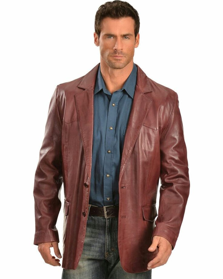 Pin by Rich Markham on Mens leather blazer Mens leather
