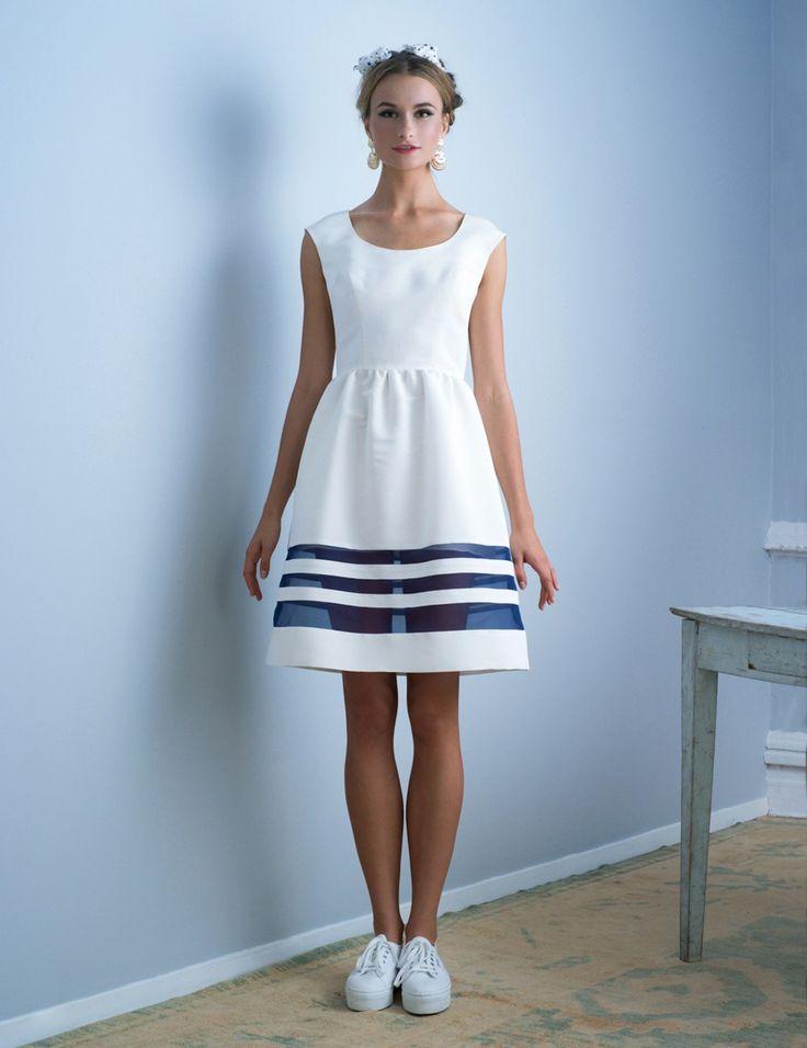 Magnolia Organza Stripe Dress | Nonoo | Avenue32