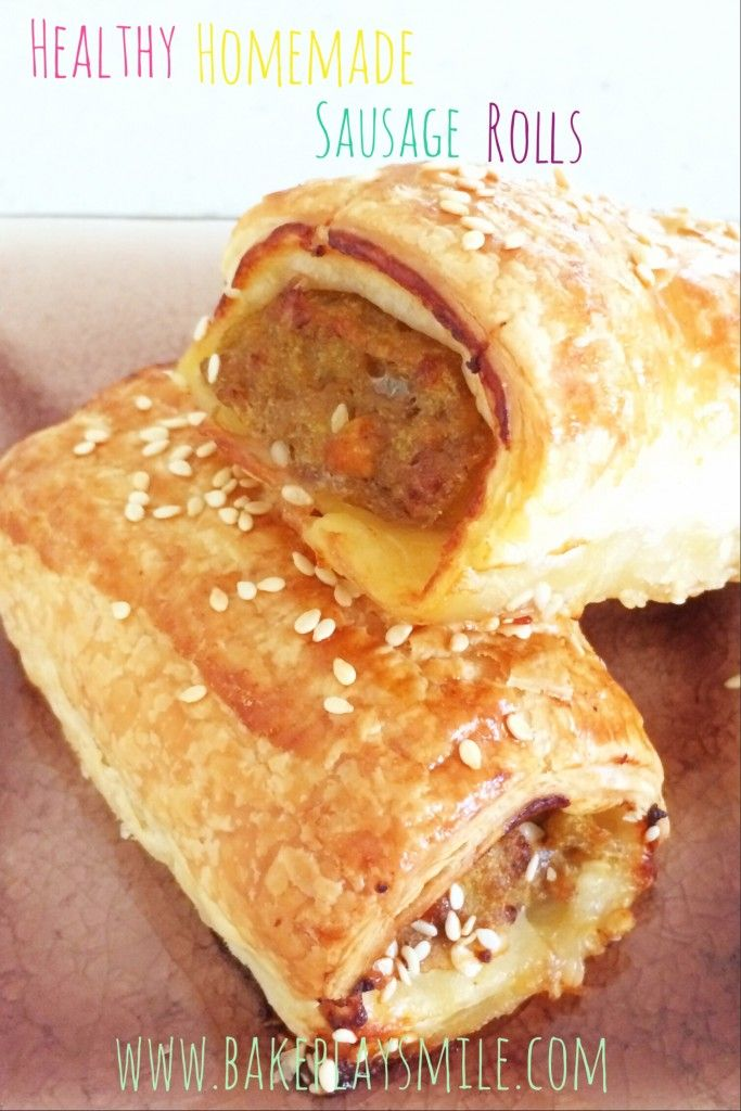 Thermomix Sausage Rolls - so simple and yet so yummy! http://www.bakeplaysmile.com/homemade-sausage-rolls/ #thermomix (Homemade Sausage Recipes)