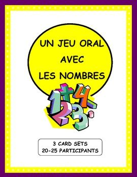 French Numbers Game - Le cercle magique. (3 card sets)