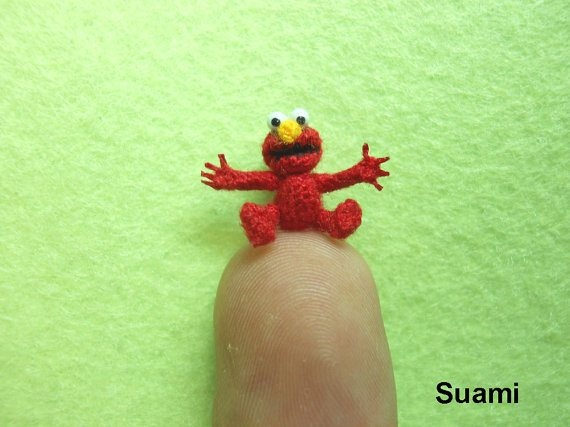 Crocheted Elmo!  Too bad I don't know how to crochet. Who wants to make this for Lucas?