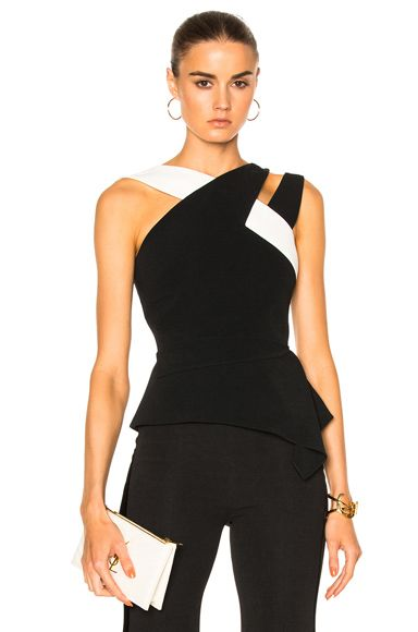 Shop for Roland Mouret Thornhill Stretch Viscose Top in Black & White at FWRD. Free 2 day shipping and returns.