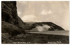 Old postcard of Cape Blomidon - Macaulay Photo