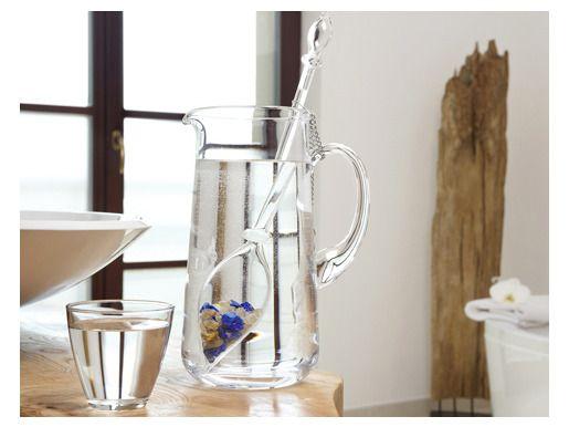 Jarra Clásica y Varita para cambiar las moléculas del agua, gracias a su vidrio de calidad, libre de plomo y las gemas que dan fuerza al proceso de revitalización