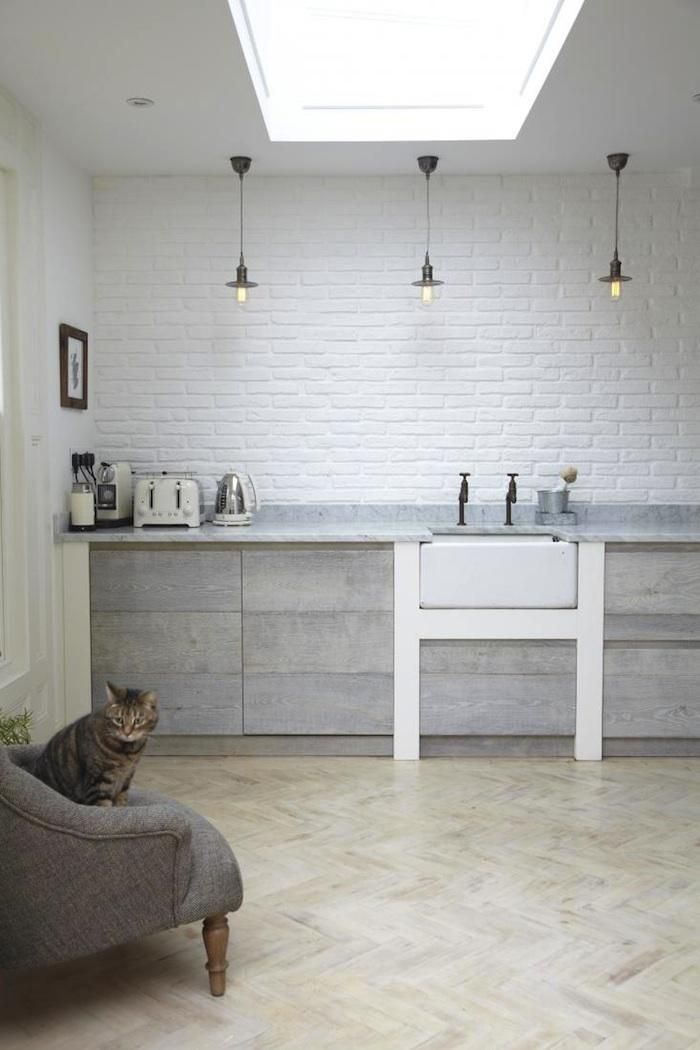 Spotted at Light Locations: A restored Victorian house in SE London, with a kitchen for the modern-day Mrs. Patmore. Deep farmhouse sink? Check. Marble countertops for rolling out pastry? Check. Classic Aga range for cooking, baking, and drying the tea towels? Yes.