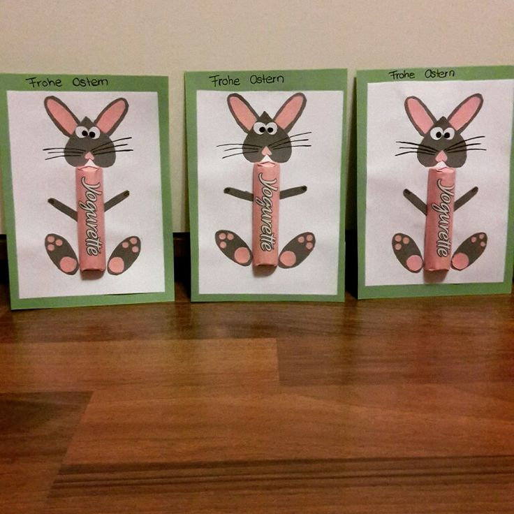 #Ostern #Geschenk #Yogurette #funny #basteln #happyeaster #bunny #Hase