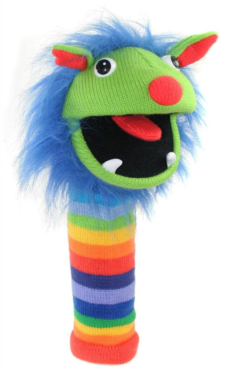 Mini Rainbow Knitted Finger Puppet by The Puppet Company