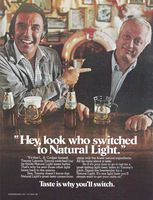 Natural Light Beer, Norm Crosby 1981 Ad Picture