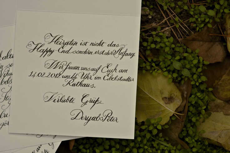 Handwrite Calligraphy invitation by us