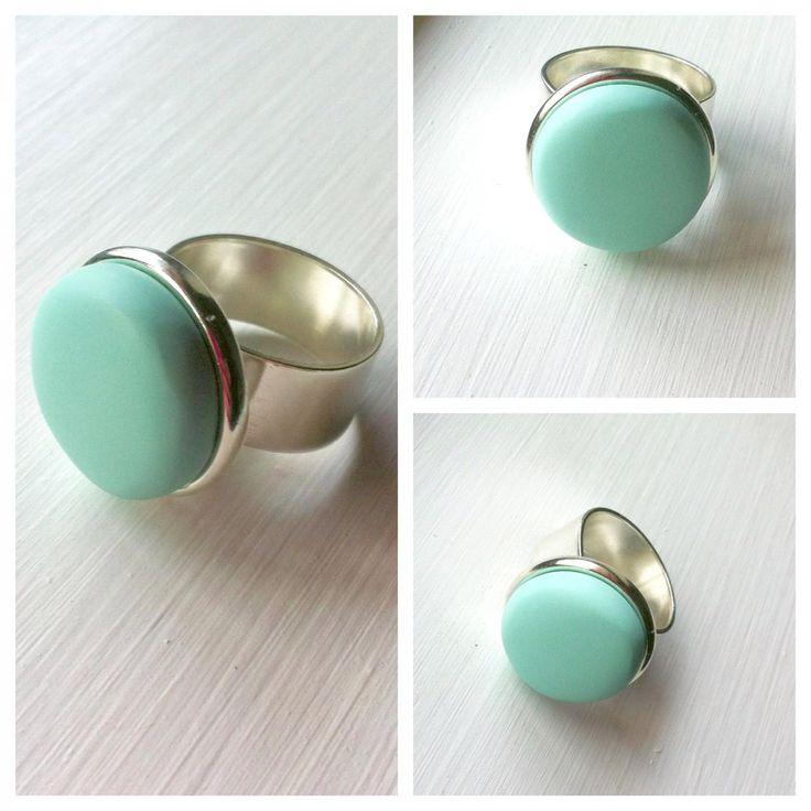 $25 Mint Halo Ring by Ashloc Designs on Handmade Australia www.hand-made.com.au/ashlocdesigns