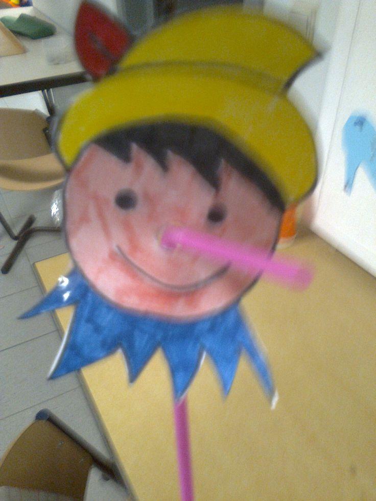 Pinokkio met rietje