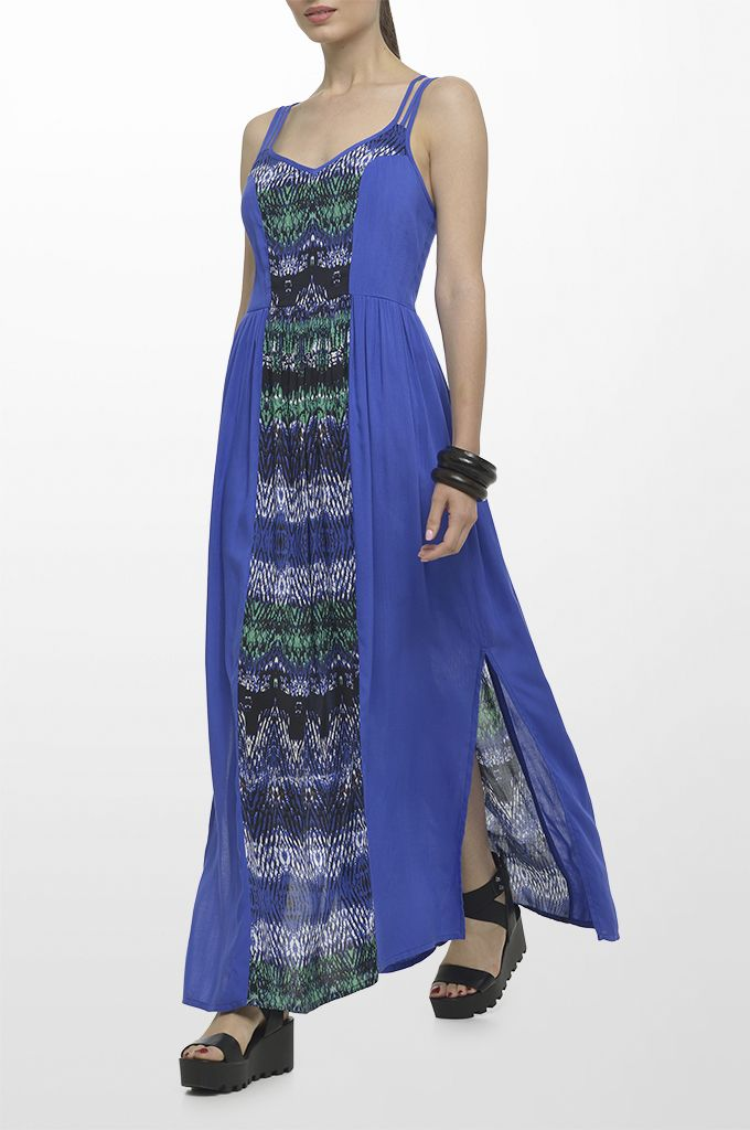 Sarah Lawrence - maxi dress with combination of two fabrics.