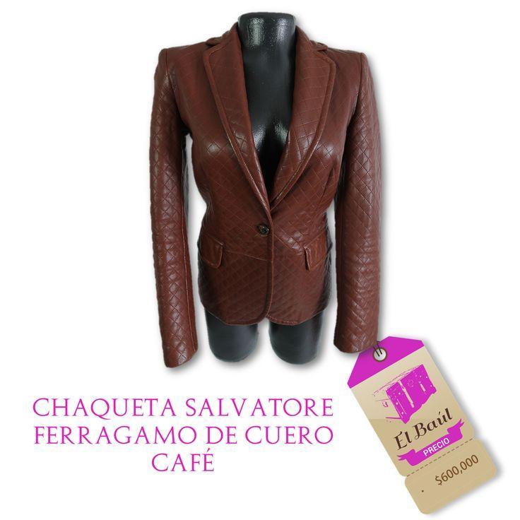 Chaqueta Salvatore Ferragamo, a un precio que solo encontrarás en El Baúl $600,000  http://elbaul.co/Productos/495/Chaqueta-Salvatore-Ferragamo-de-cuero-caf%C3%A9--