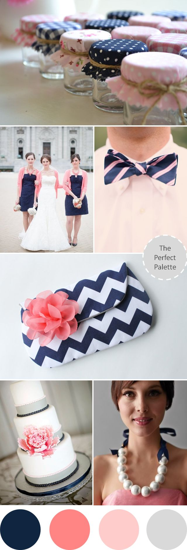 {Wedding Colors I Love}: Navy Blue + Shades of Pink!