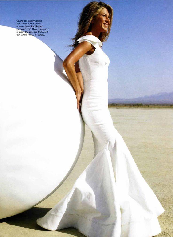 Jennifer Aniston in Zac Posen for a Harper's Bazaar editorial
