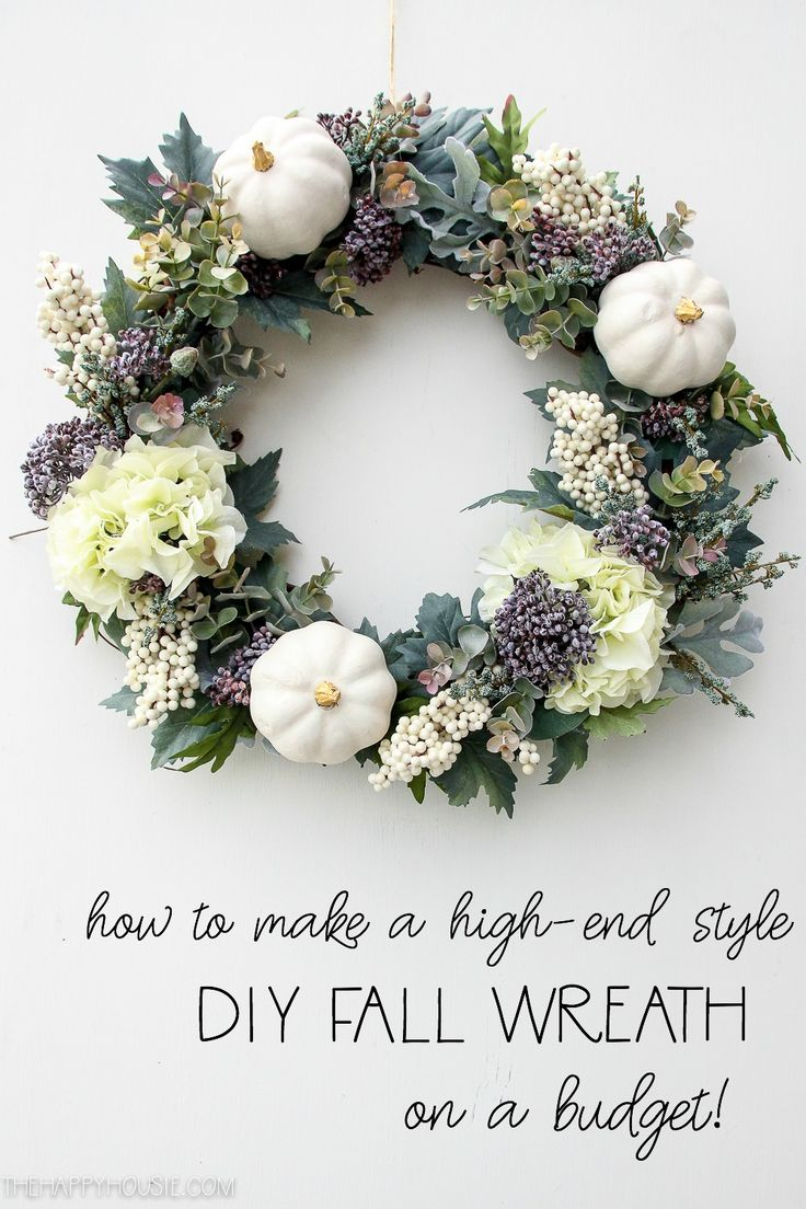 How to Make a High-End Style DIY Fall Wreath on a Budget