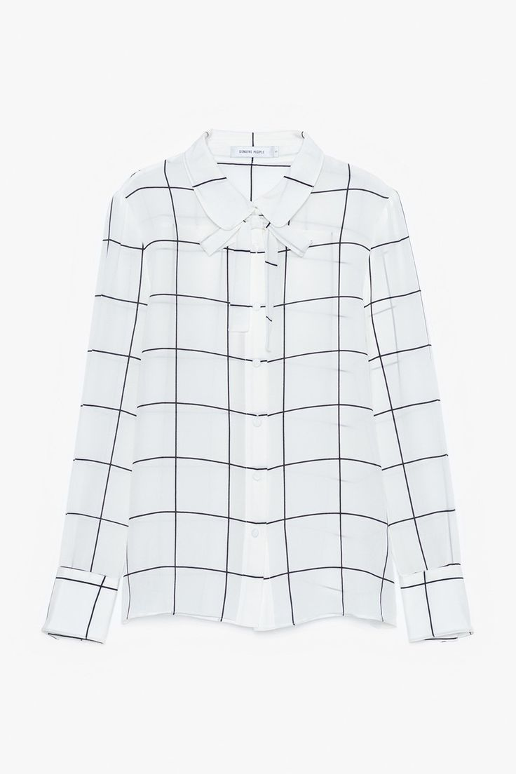 Long-Sleeve Silk Blouse with Bow Tie