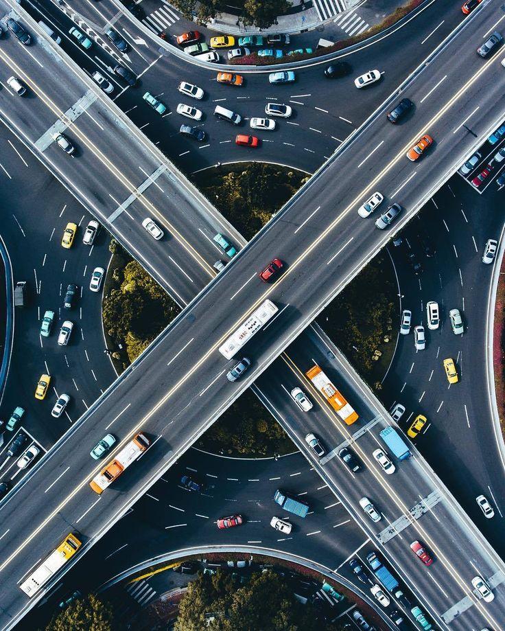 Highway Roundabout China..